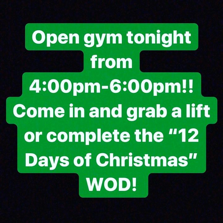 12 Days Of Christmas Crossfit Wod.Gio Missed The Workout So He S Gonna Be Doing The 12 Days