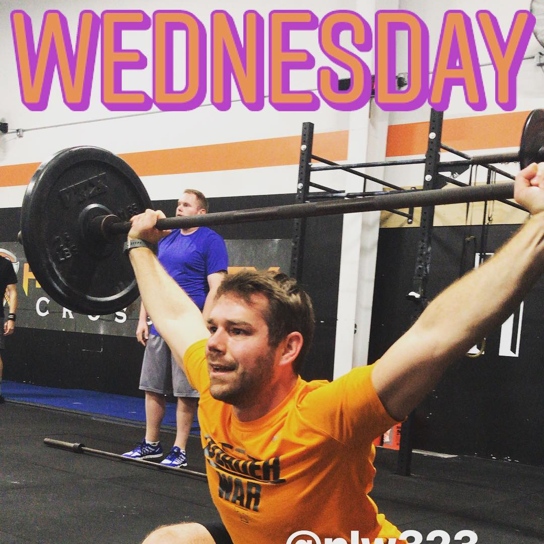 "Happy Hump day! We've hit the midday point of the week. You started off strong, will you continue to push yourself through the weekend? Noah winterer aka ""The bachelor"" is the newest staff member here @hidden_alley_crossfit. You can find him coaching classes Tuesday evenings! Glad to have him a part of the"