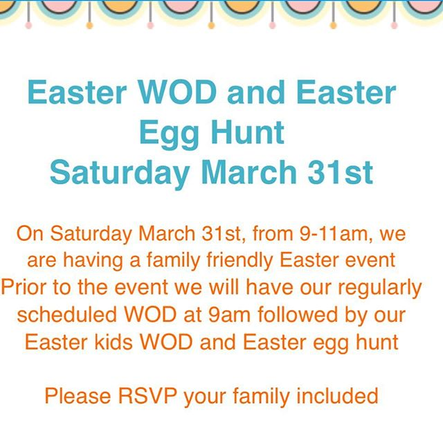 Don't forget! Easter egg hunt this morning for the HAC kids