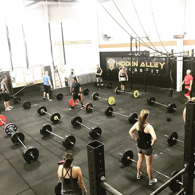 Our favorite bar on a Saturday morning! Great workout today that included a 20 min AMRAP of various movements followed up by a clean ladder to end the day! @hidden_alley_crossfit is coming up on its 4 year affiliation anniversary in October and its moments like today that solidify why we do what we do. The community here is so tight and so incredibly motivating, and it's been 100% an organic development. I don't know how we've been so lucky to have gained the members that we have, but it seems as though it just keeps getting better and better