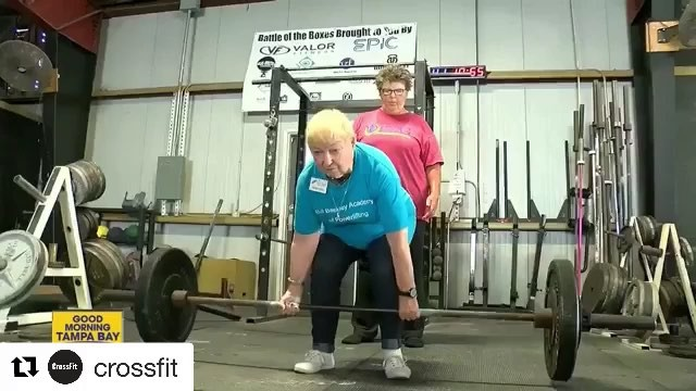 Live longer. Lift weights @crossfit ・・・ Edith Traina is the star of @crossfit_jaguar, where she lifts weights to build muscle and improve her mental and physical health. – Link to story by Sean Daly of ABC Action News WFTS Tampa Bay in today's story
