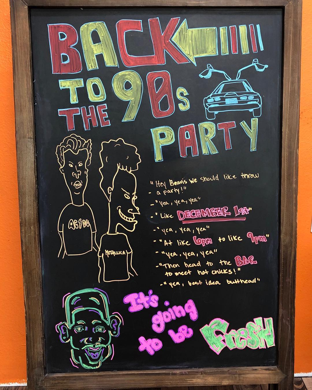 """HAC Christmas Party this Saturday from 6-9pm! Beer and wine will be provided, and @fonzis_tacos will be parked out front for good eats!! This years them is """"Back to the 90's"""" so where your best 90s version of fashion! We'll party at the box for a few hours then head over to @ninosplace209 around 9ish to watch @mintiki and rock the house! It's gonna be totally awesome"""