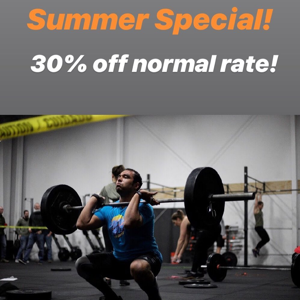 Stay fit this summer with our HUGE discount! Normal monthly rates are up to $140 a month! Starting in May, we will be discounting our monthly membership with a 30% off special! Sale starts May 1st and you can catch that deal for the entire month (ends May 31st!). Don't miss out!! DM for more details