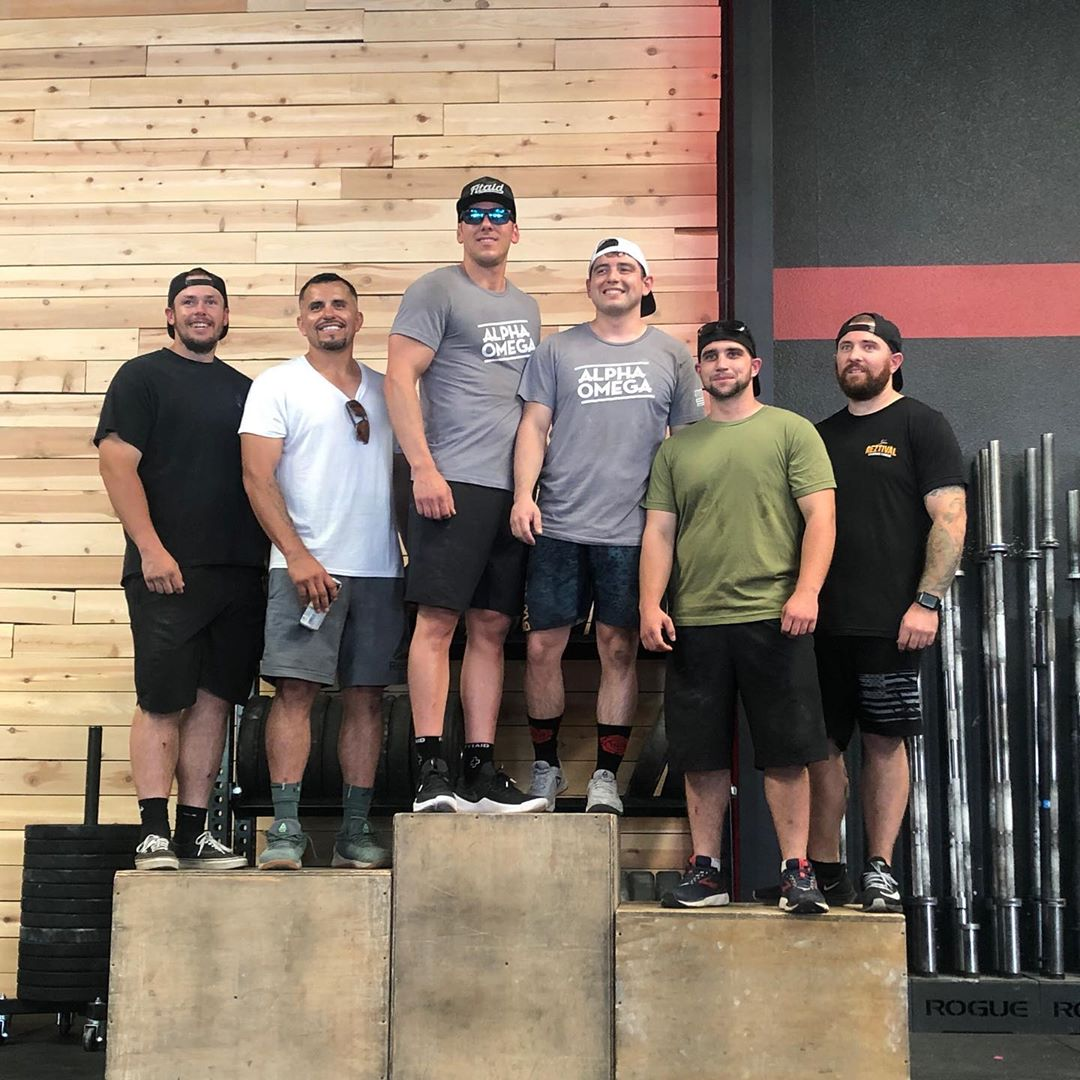 Congrats to our boys for making it to the podium with a 2nd and third place finish! @residentcrossfit put on a great comp today! We had a blast dukin it out with some of the valleys baddest men and women! @jperez500 @65johnnyboy took 2nd and the jakes @jacobc56 and @jakewhorton1989 took third!! Also, @yahmon82 and @vernard_jordan killed it in the RX division! They had some real stiff competition but fought hard and did a hell of a job