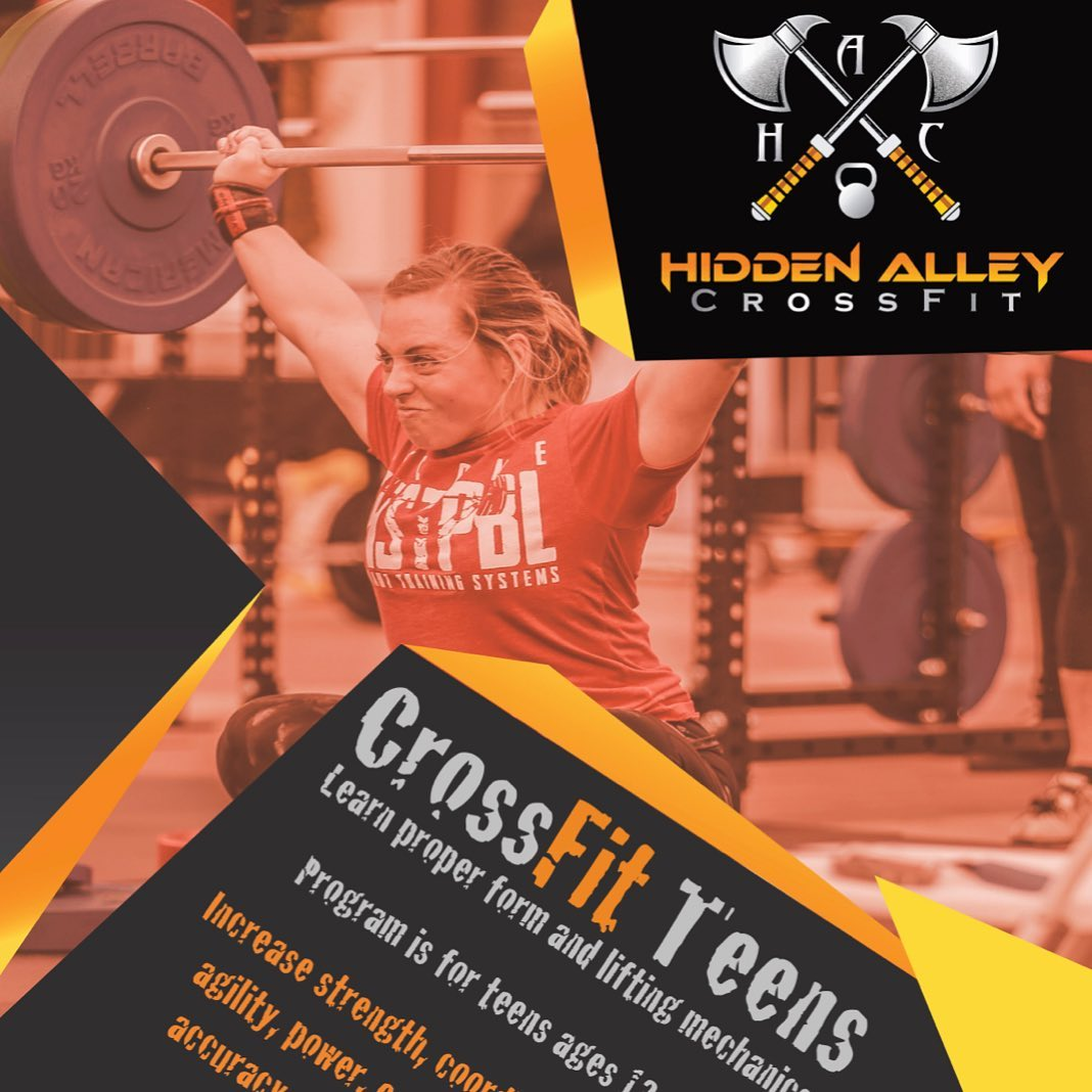 💥6 days until we launch the CrossFit Teens program! 💥  We are so excited to open the doors to an age group with such a huge need for strength and conditioning. Youth performance training is where I found my love for strength and conditioning when I started my own program at the KZONE (baseball training facility) in 2011. It LITERALLY started my business and drove my interest to CrossFit because I felt like strength and conditioning was truly the best overall fitness program. I knew there was a huge need, for not just athletes but, for EVERYONE to squat, deadlift, press, Olympic lift, jump, run and utilize body weight gymnastics. Needless to say, if it wasn't for youth performance training, @hidden_alley_crossfit wouldn't exist. 💥  Now, we get to mend the two, and I couldn't be more excited to see these teenagers learn what their bodies are capable of doing
