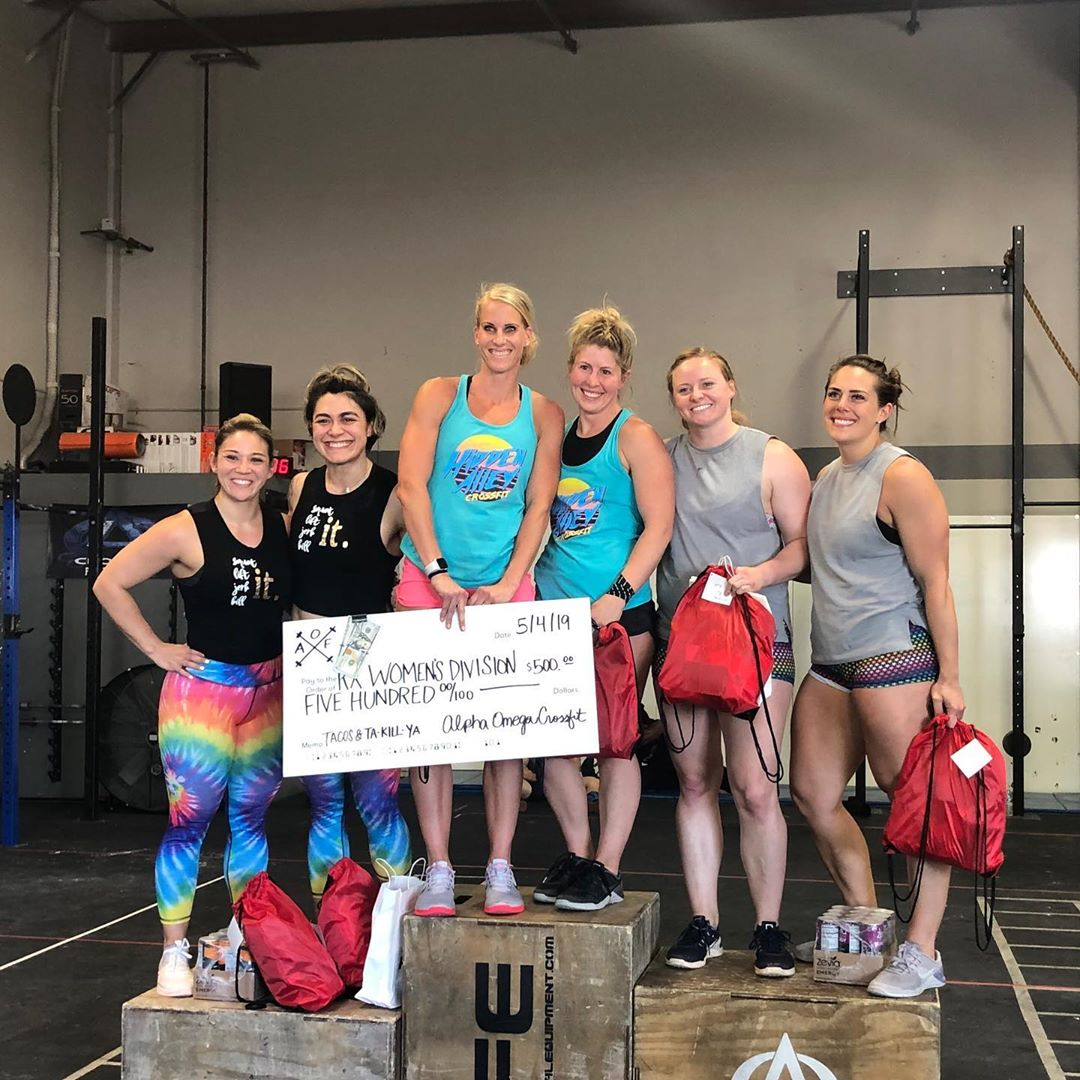 @tacos_and_ta_kill_ya was a success! Awesome turn out today, and our 5 teams did AWESOME! @anniemarshall & @mrsjrodriguez (mother thrusters) placed 1ST in the women's RX, and we had two teams in women's scaled that made it to the final 5! Great job competitors!!! I'm so proud of all of you for getting out of your comfort zone and showing the valley who you are! Also, Thanks to all of the spectators who cheered the teams on, BBQ'd, and drank beers! That's how a Saturday should be spent! @mariahkiiing @justine_taylor16 @mrsmintiki @shelbyreich @loveharperandcruz @casie_kent @_guille_yvette_ @kellenemcmillen