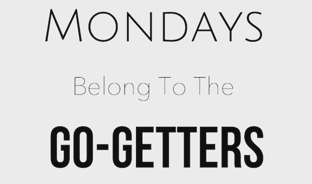 New week. New goals. Get after it