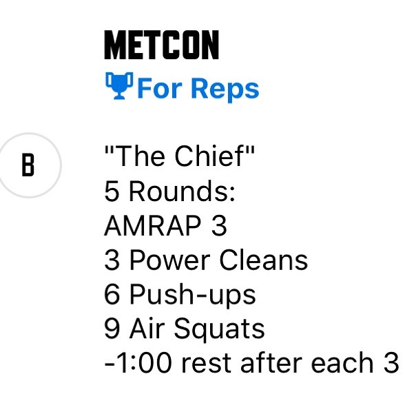 """""""The Chief"""" is on tomorrow's schedule!! How many reps are you gonna get??"""