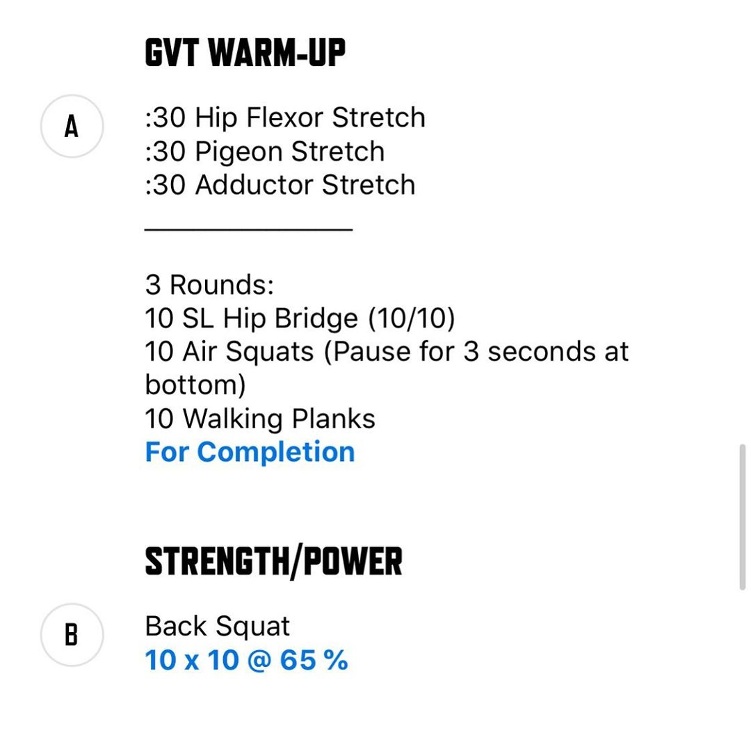 GERMAN VOLUME TRAINING. Week 1. This one is brutal!!! 100 reps of back squats today, deads Wednesday, and bench Friday! I recommend you go easy on the metcons post GVT sesh. Your nervous system will be shocked so there's no point in going 100% on the wod! Give ya feedback, this one should leave you sore for a few days