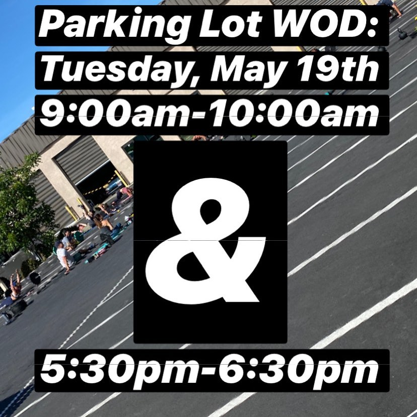 Back at it! Meet us @hidden_alley_crossfit parking lot for a WOD with the  Two sessions:  9:00-10:00am with @giovannipodesto & 5:30-6:30pm with @mariahkiiing • Workout will be posted tonight. You'll need a barbell